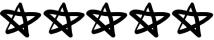 five stars black